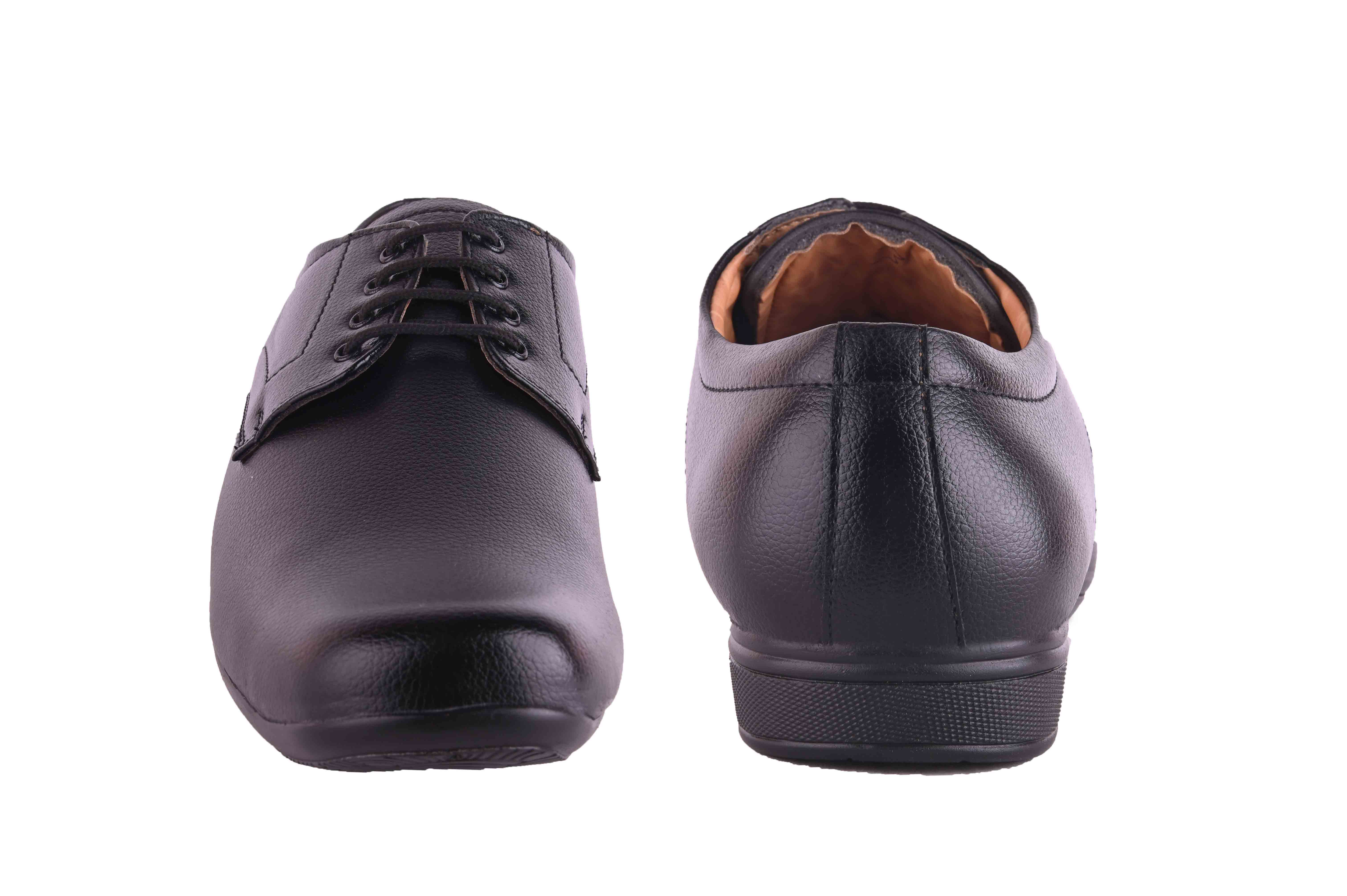 Almighty Black Men's Formal Shoes Derby For Men BBDBLK (BLACK, 6-10, 8 PAIRS)
