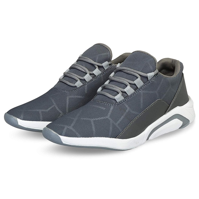 Almighty Gray Color Men's Running Sports Shoes For Men MG03GRA (Gray, 6-10, 8 PAIRS)
