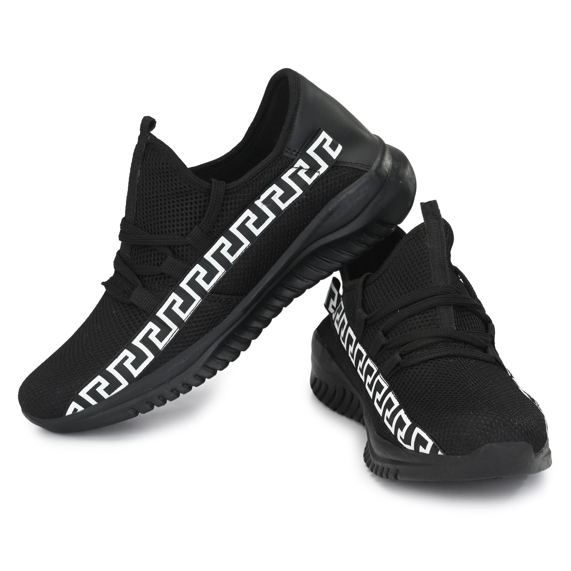 Almighty Black Air Series Mesh Casual Shoes MNBK01 (BLACK, 6-10, 8 PAIRS)