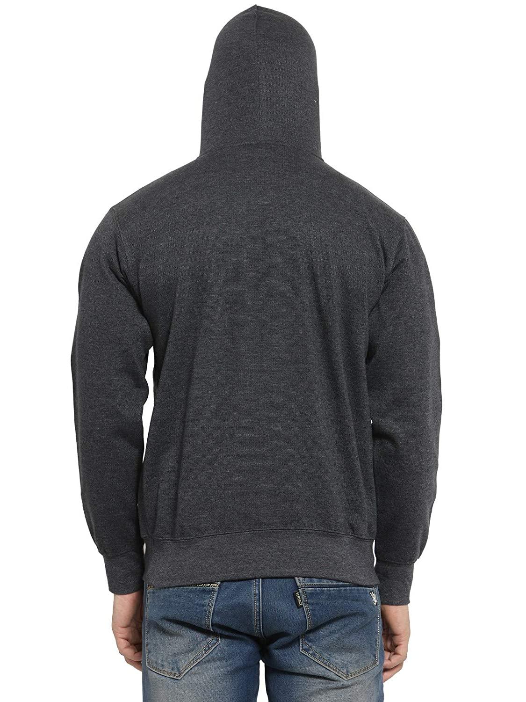 Mens Rich Cotton Charcoal Grey Hoodie Sweatshirt Without Zip (M-42)
