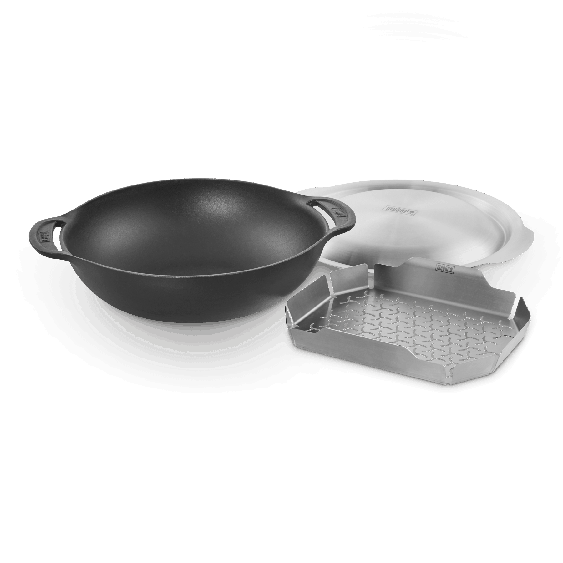 WOK SET WITH STEAMING RACK 8856