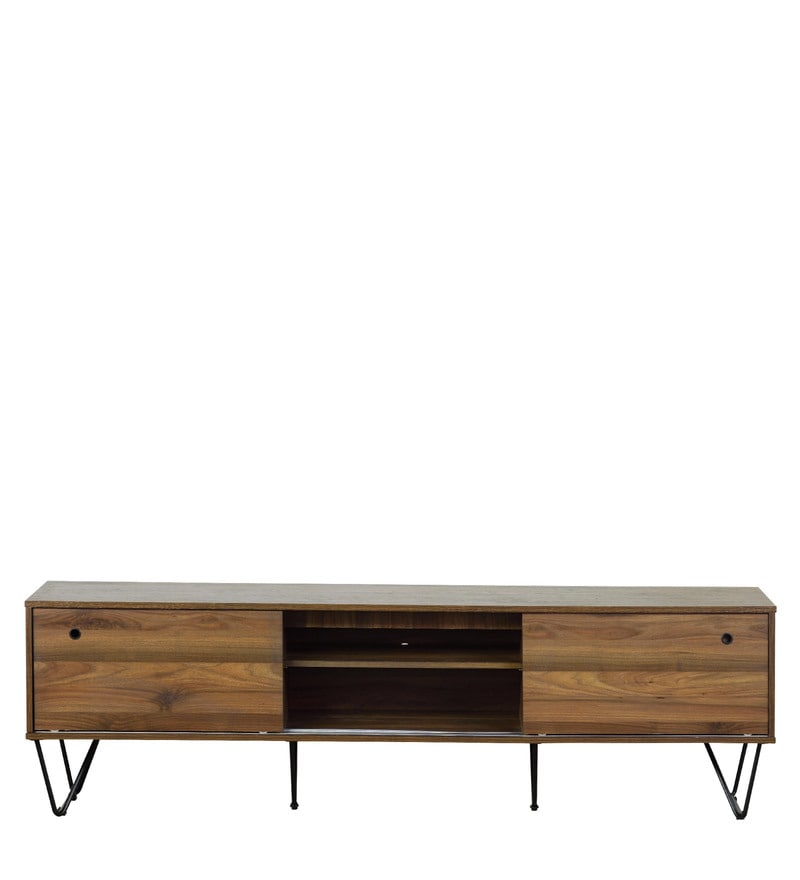 Entertainment Unit In Columbia Brown Finish