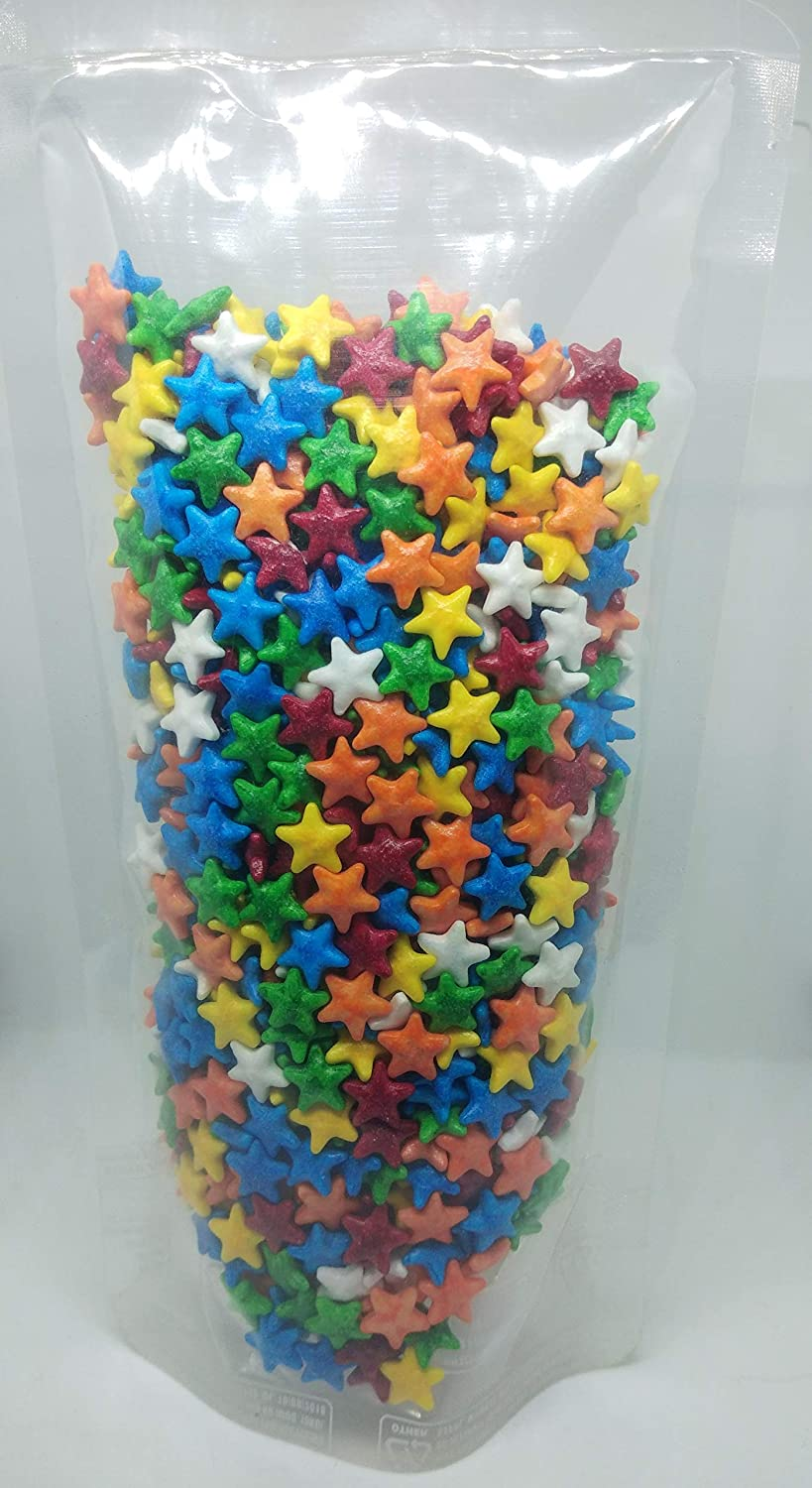 Marvino Edible Colorfull Star Sprinkles For Cake Pastry Ice Cream Sweets Decoration (Star Shape A2)