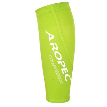 Aropec Compression Triathlon Swimming Cycling Running Calf Sleeves (Green,M)