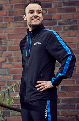 Andro Lennox Table Tennis Jacket - Black/Blue (L)