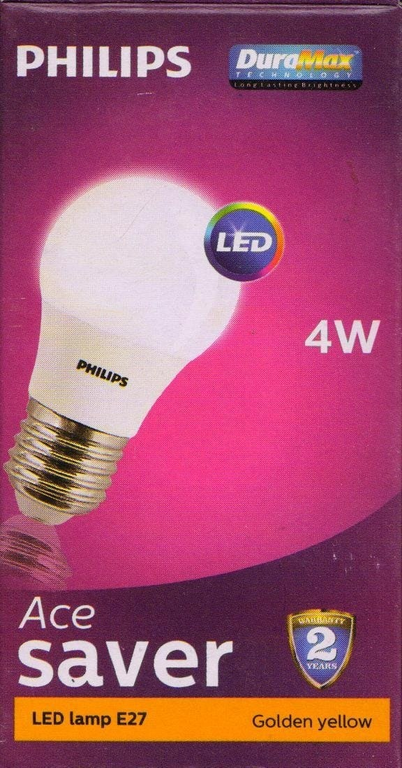 Philips 4w LED Bulb E27 Warm White Set Of 6