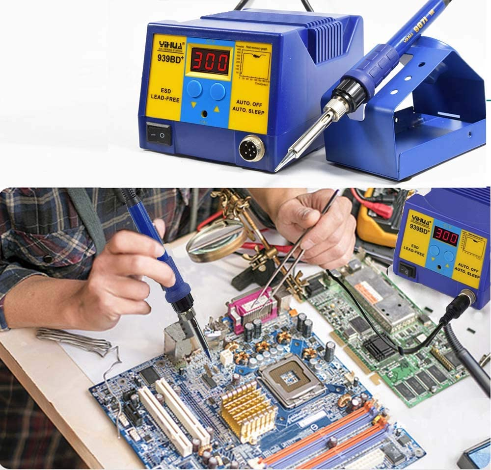New YIHUA 939BD+ Lead Free Digital Soldering Station