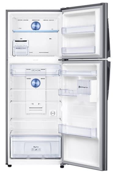 Samsung RT42K5468SL/TL Frost Free Double Door Refrigerator (415 Litre, 3 Star, Easy Clean Steel)