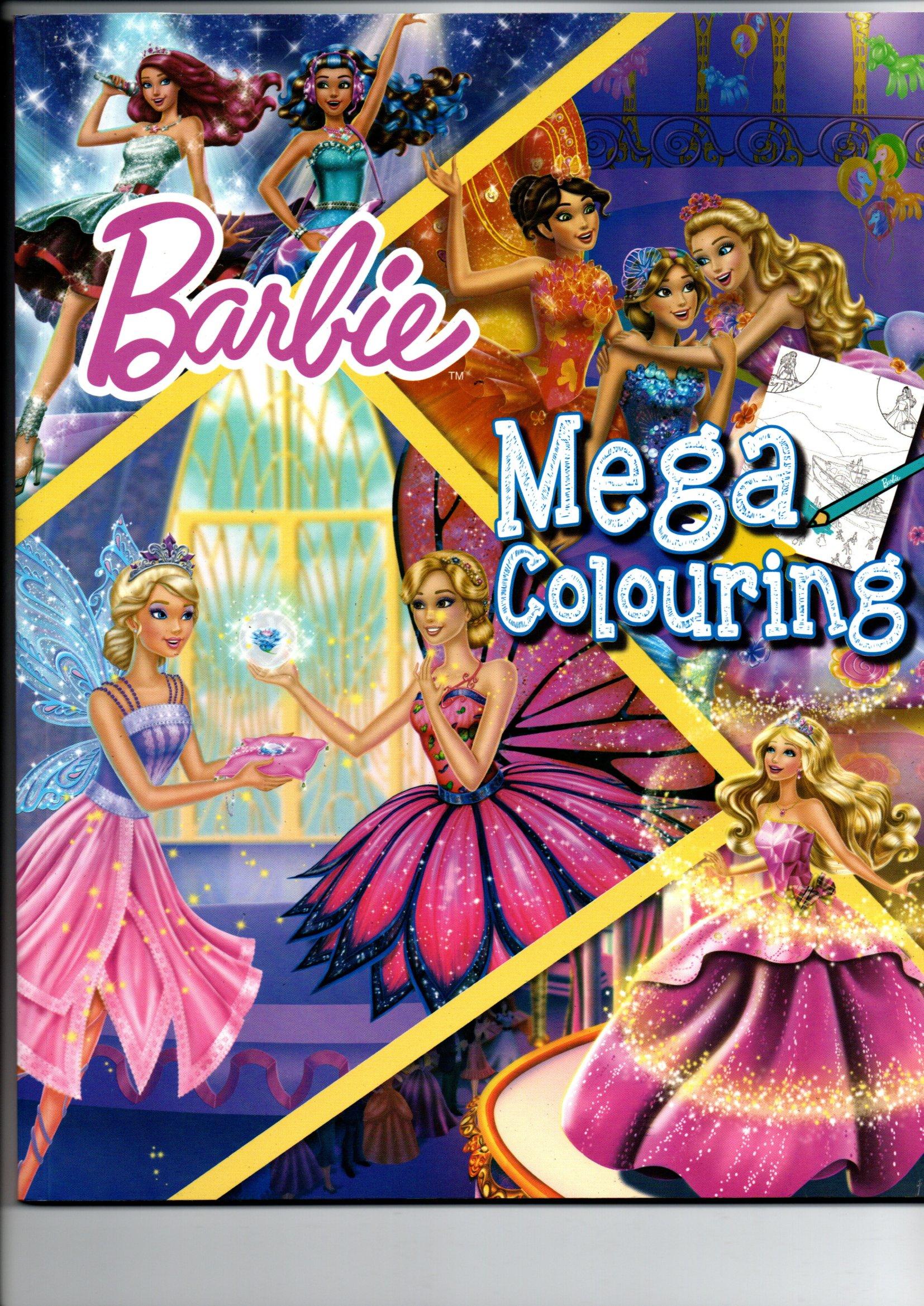 BARBIE MEGA COLOURING BOOK