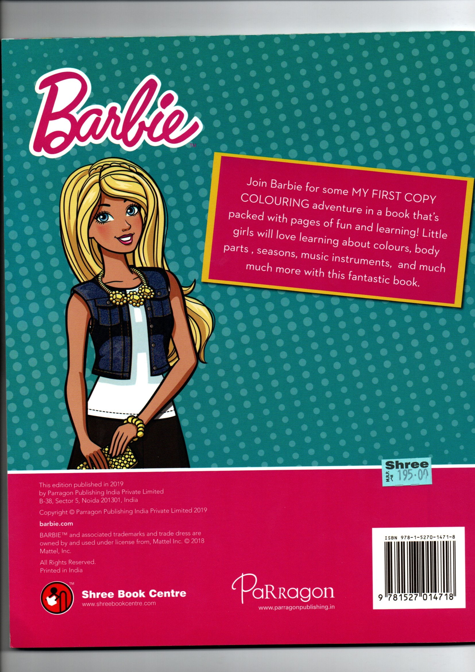 BARBIE MY FIRST COPY COLORING