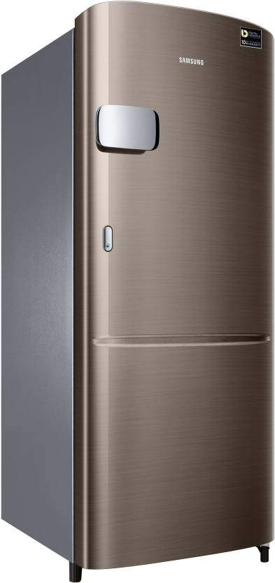 Samsung 192 L Direct Cool Single Door 4 Star Refrigerator (Luxe Brown, RR20R1Y2YDX/HL)