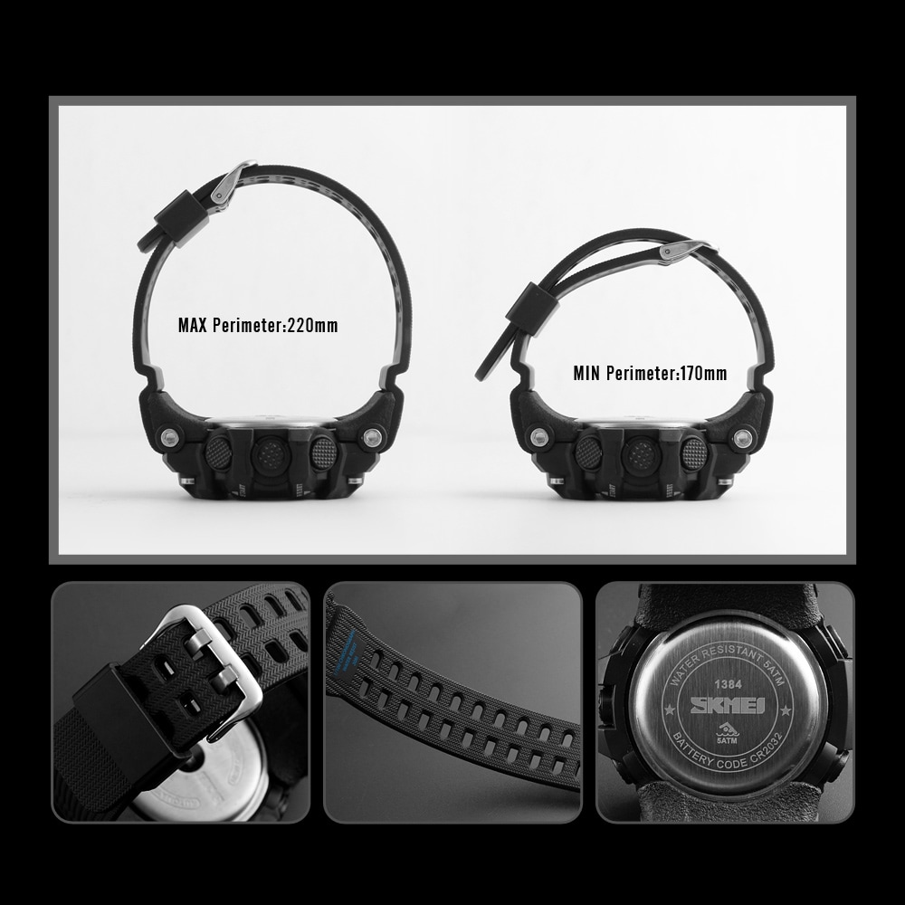 SKMEI Sport Watch Mens Watches Top Brand Luxury Men Wristwatch Waterproof LED Electronic Countdown Stopwatch Digital Watch Male