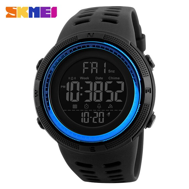SKMEI Brand Men Sports Watches Multifunction Watches Alarm Clock Waterproof LED Digital Watch 1251 Military Watch