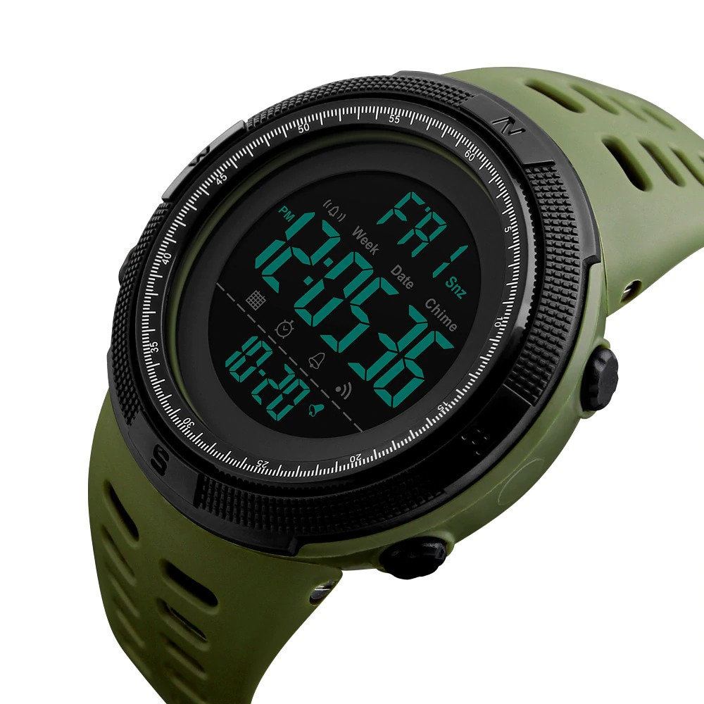 Skmei 1251 Mens Sports Watches Brand Dive Digital LED Military Watch Men Electronics Fashion Casual Wristwatches