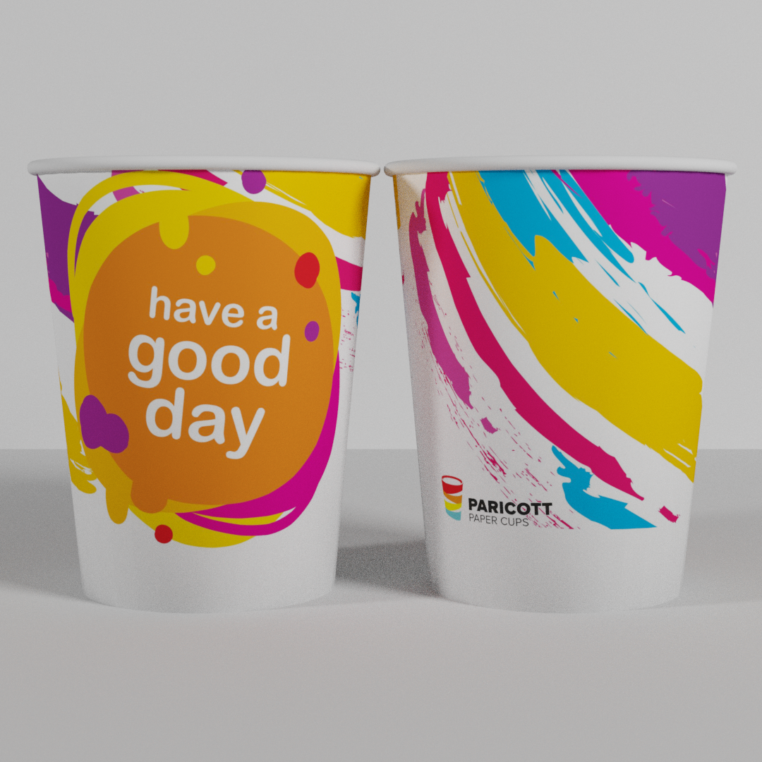 8Oz/240ml Multi Color Good Day Paper Cups (500)
