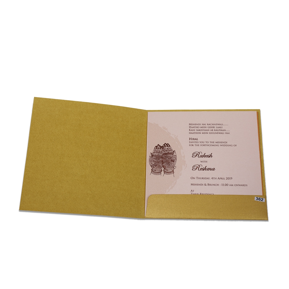 Ganesha Wedding Cards (Golden)