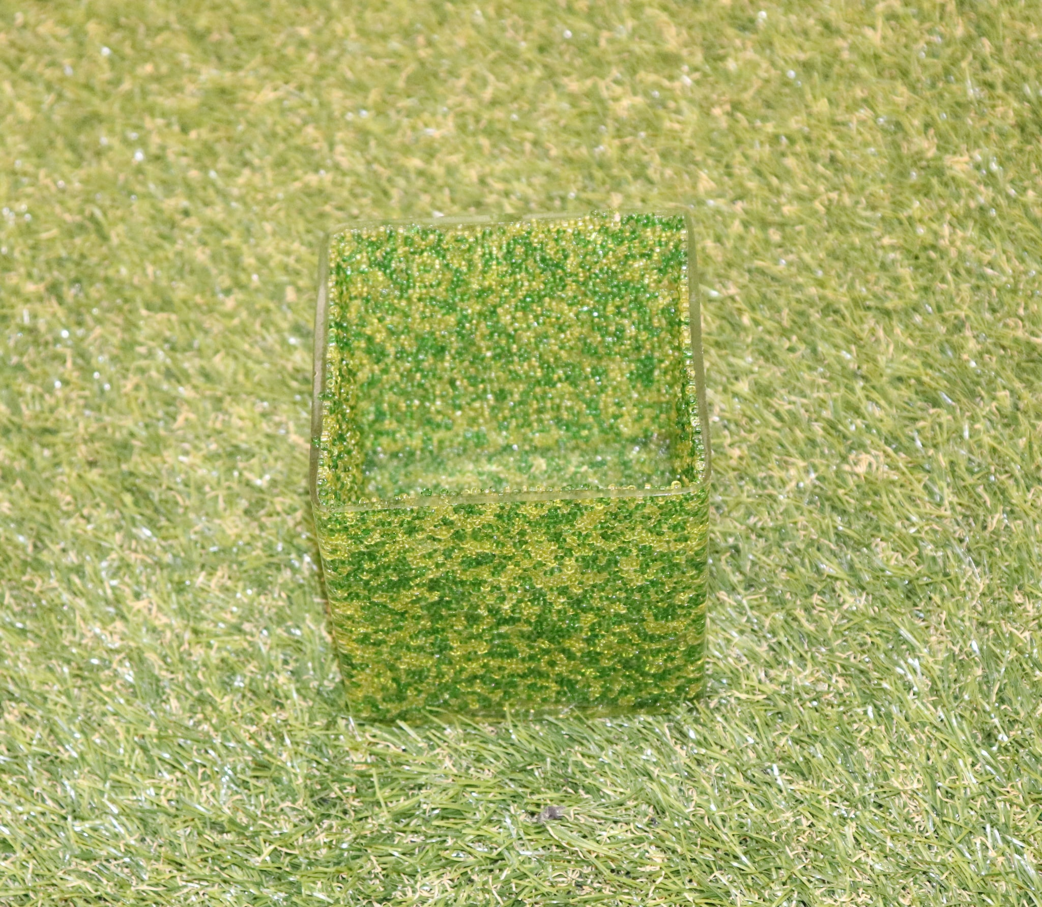 Glass Square Pot 3""