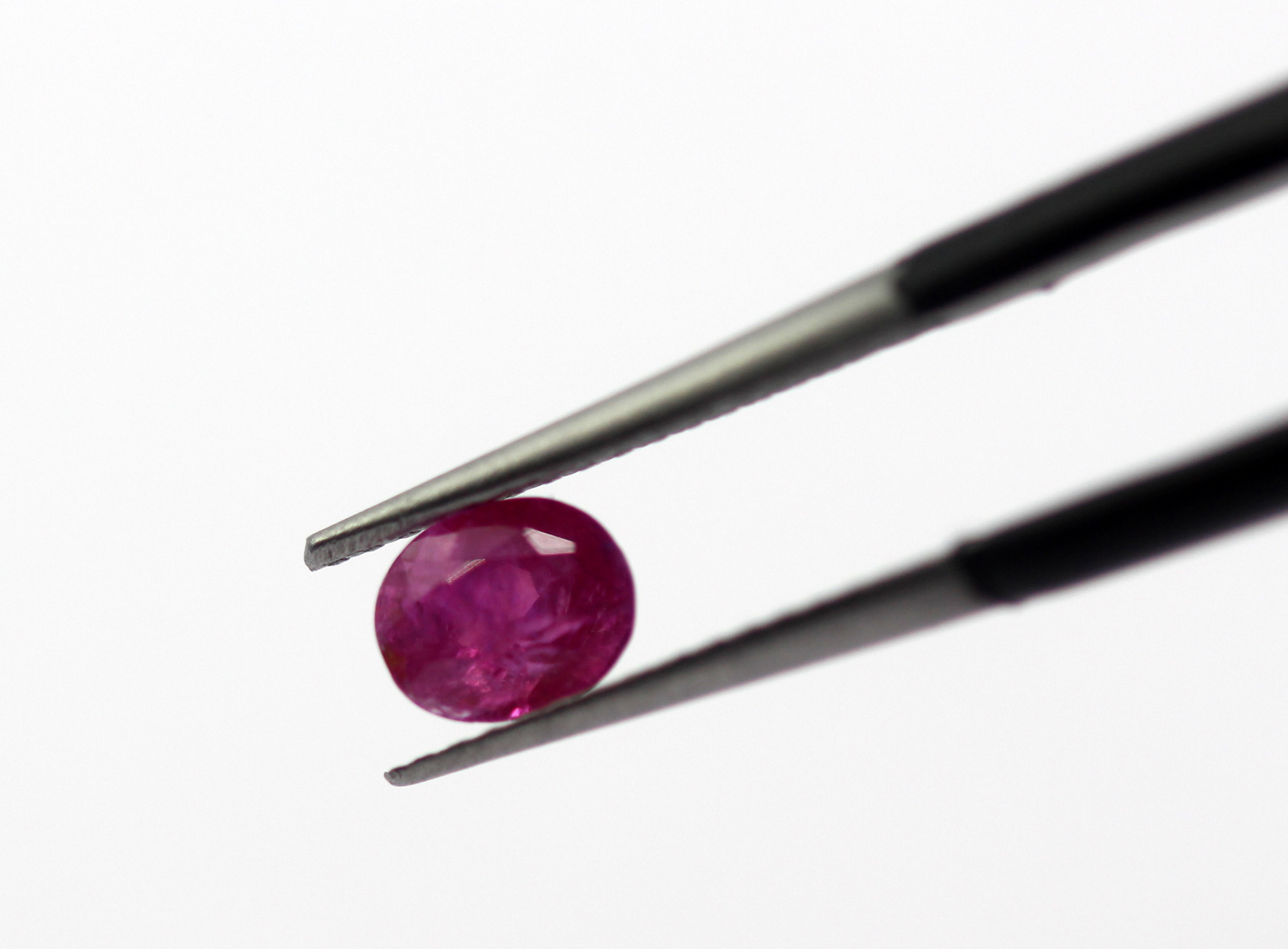 0.75 Ct Ruby Natural Gemstone Oval Mix Cut Red Color Burma Certified