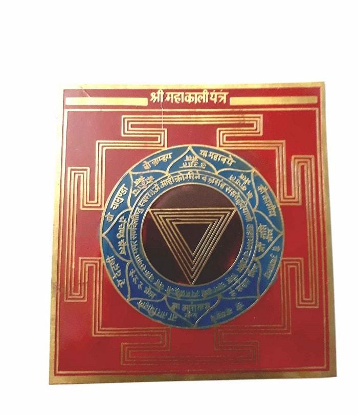 Numeroastro Shri Mahakali Yantra In Pure Brass Colour Yantra (8 Cms) (1 Pc)