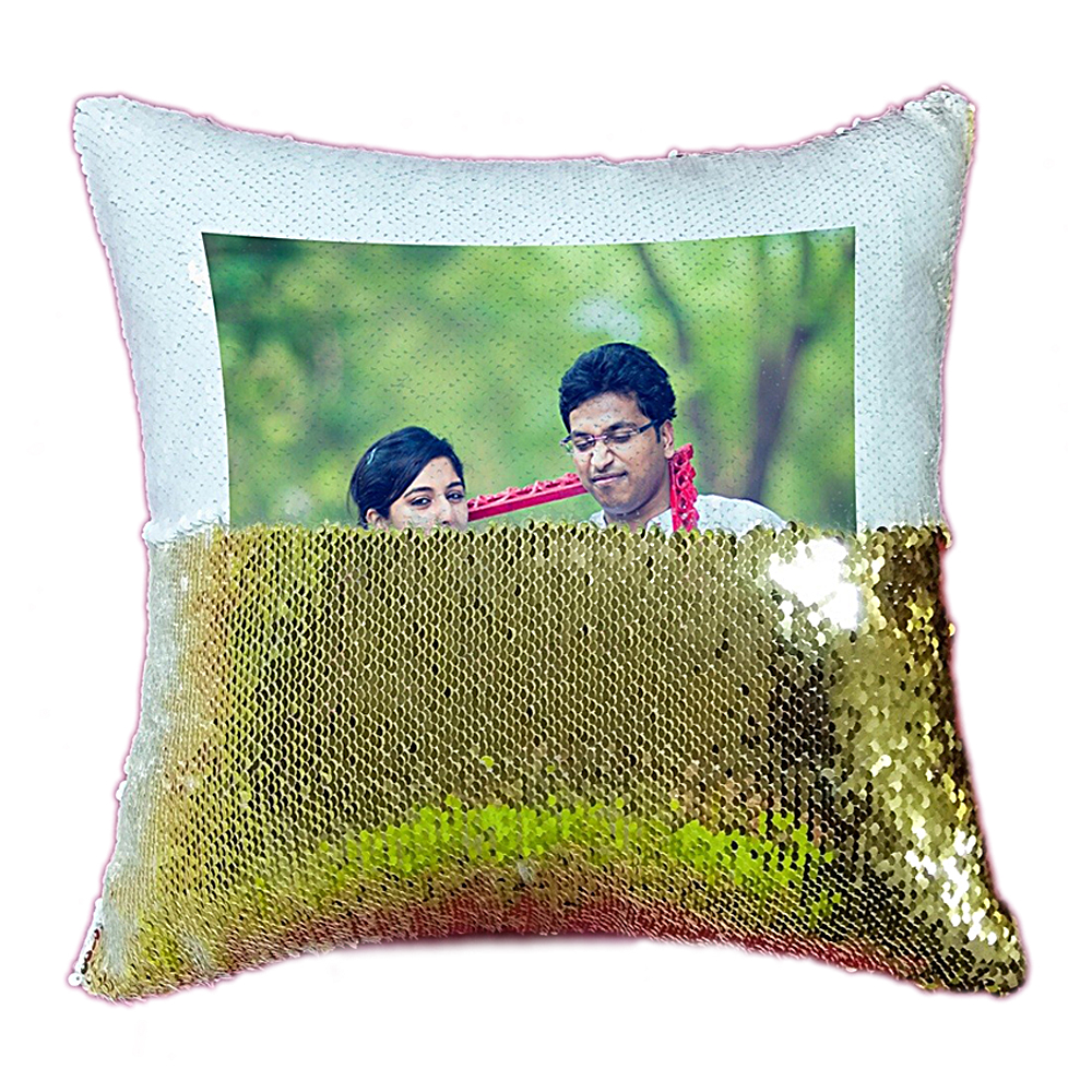 Personalized Sequien Cushion Magic Reveal Pillow