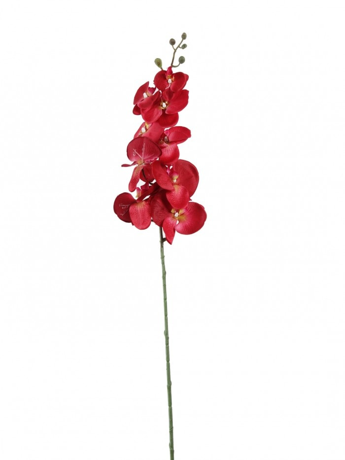 DECORATIVE ARTIFICIAL ORACHID FLOWER STEMS (90 CM TALL, RED) MSF30