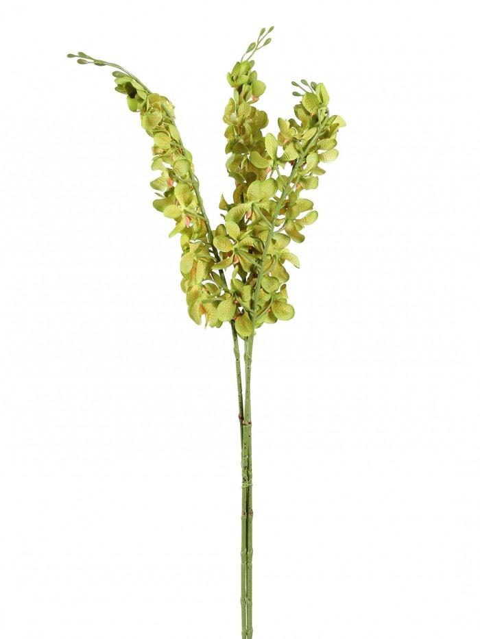 ARTIFICIAL MOKARA ORCHID FLOWER STEMS (95 CM TALL, SET OF 3, GREEN) MSF41