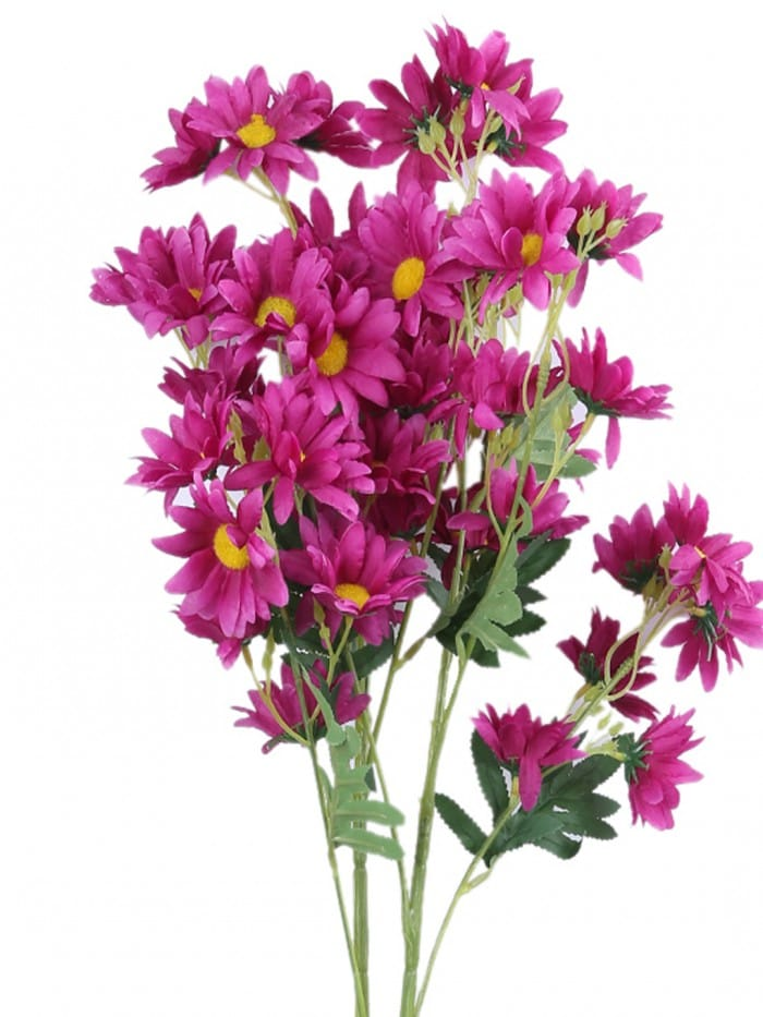 ARTIFICIAL DAISY FLOWER STEMS (80 CM TALL, 5 BRANCHES, PURPLE, SET OF 2) MSF98