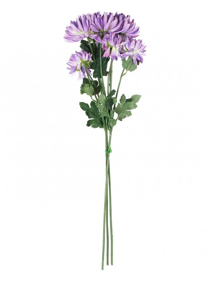 ARTIFICIAL CHRYSANTHEMUM FLOWER STICKS (50 CM TALL, BLUE, SET OF 3) MSF77