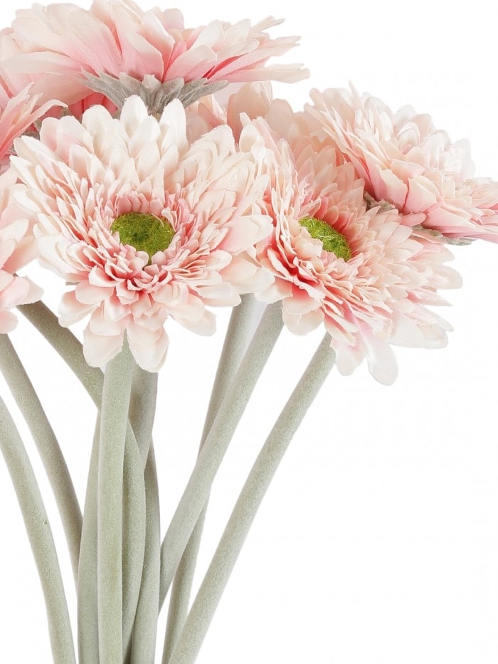ARTIFICIAL MINI SPIDER GARBARI FLOWERS STEMS (32 CM TALL, SET OF 10, PINK) MSF64