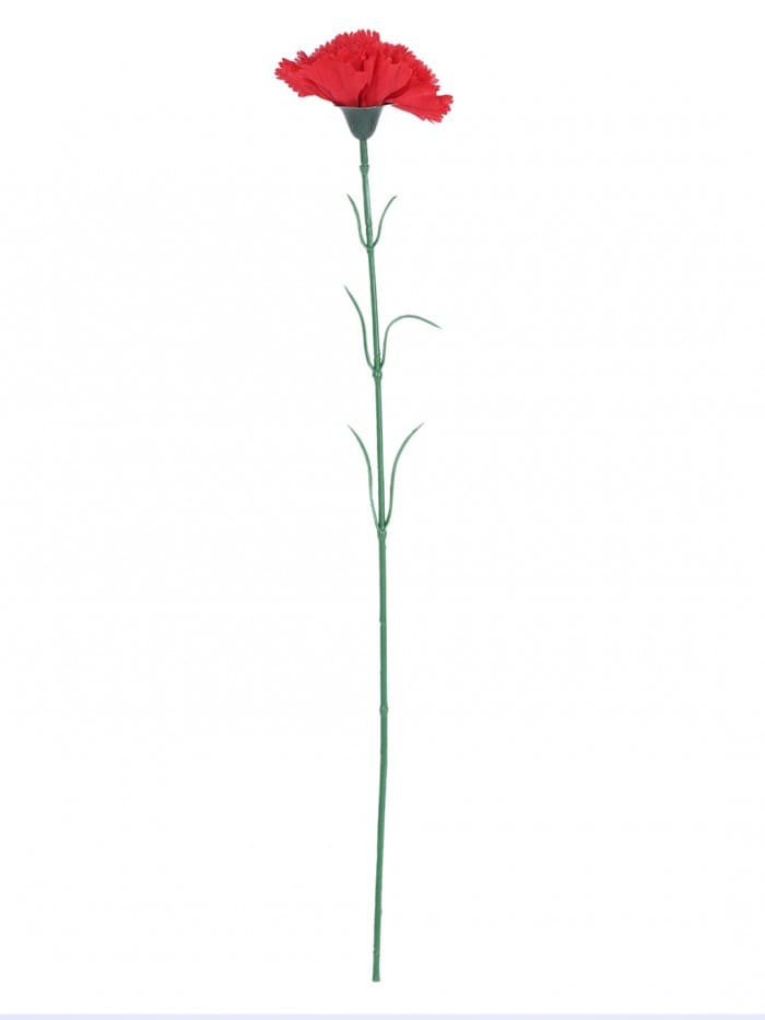 ARTIFICIAL SYNTHETIC SINGLE CARNATION FLOWER STICK (45 CM TALL, SET OF 15, RED) MSF4