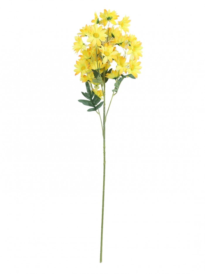 ARTIFICIAL DAISY FLOWER STEMS (80 CM TALL, 5 BRANCHES, YELLOW, SET OF 2) MSF100