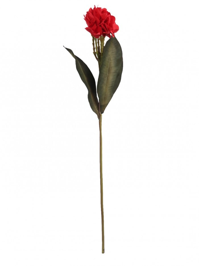 ARTIFICIAL CHAMPA FLOWER STICK (80 CM TALL, RED, SET OF 3) MSF51