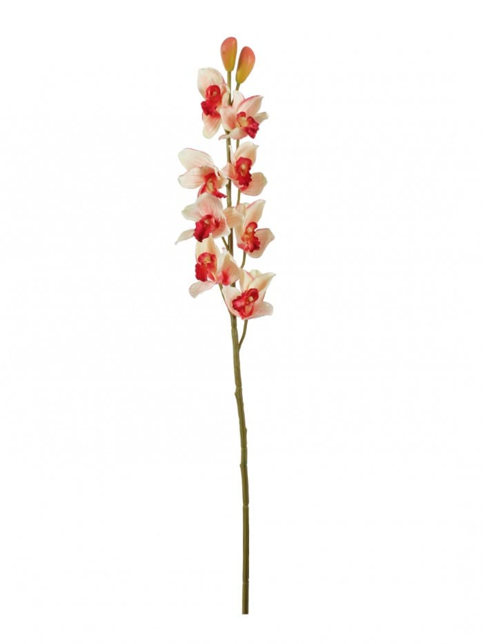 LOVELY ARTIFICIAL CYMBIDIUM ORCHID FLOWER STEMS (95 CM TALL, SET OF 2, PINK) MSF58