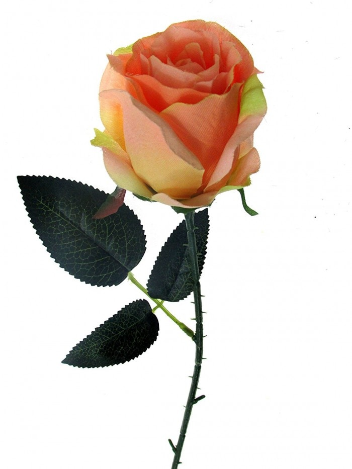 ARTIFICIAL SYNTHETIC SINGLE OPEN ROSE (45 CM, SET OF 4, PEACH) MSF15