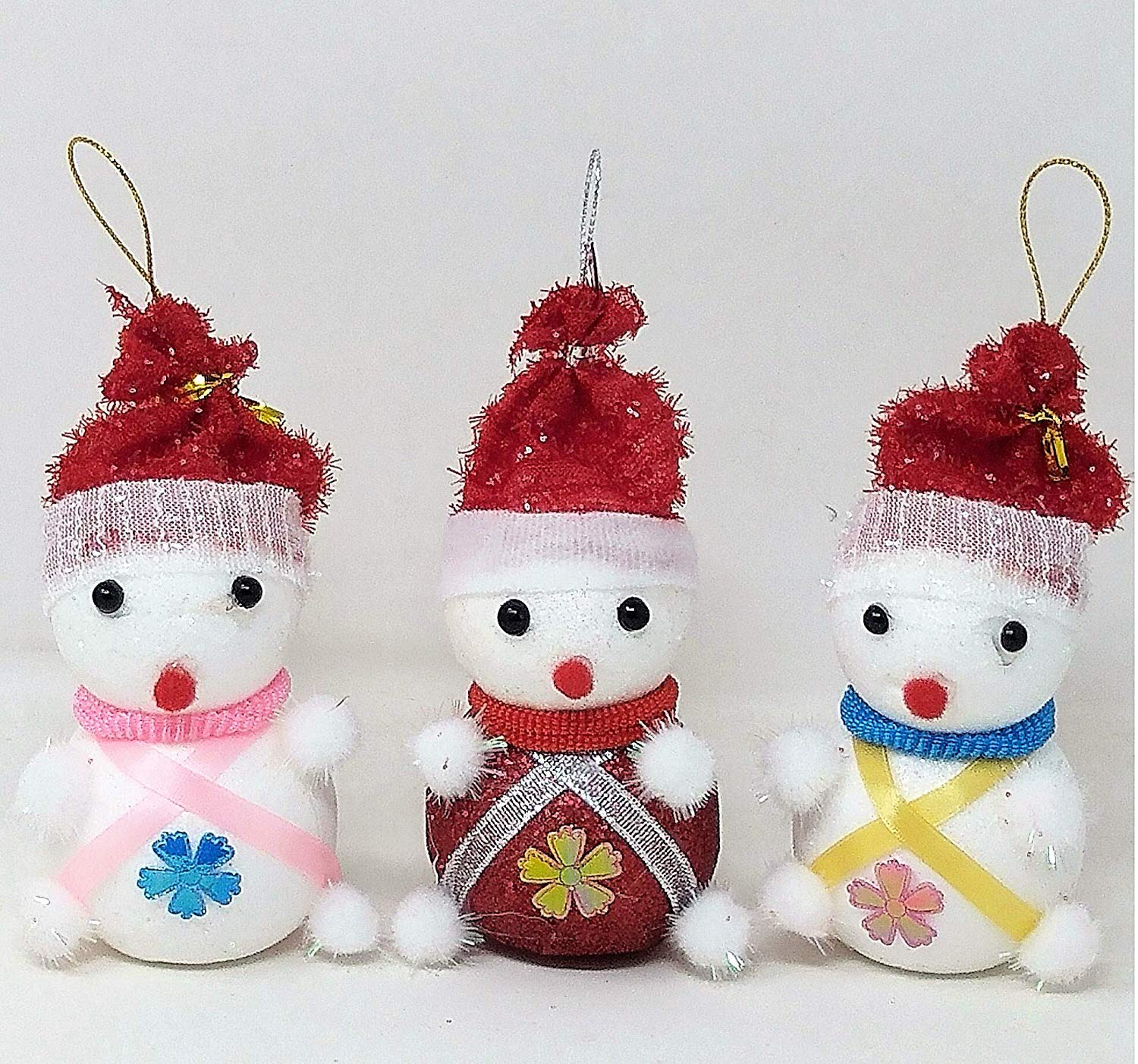 Christmas Tree Hanging Snowman Doll Ornaments Festival Party Xmas Decoration-Pack Of 6 (Type 2)