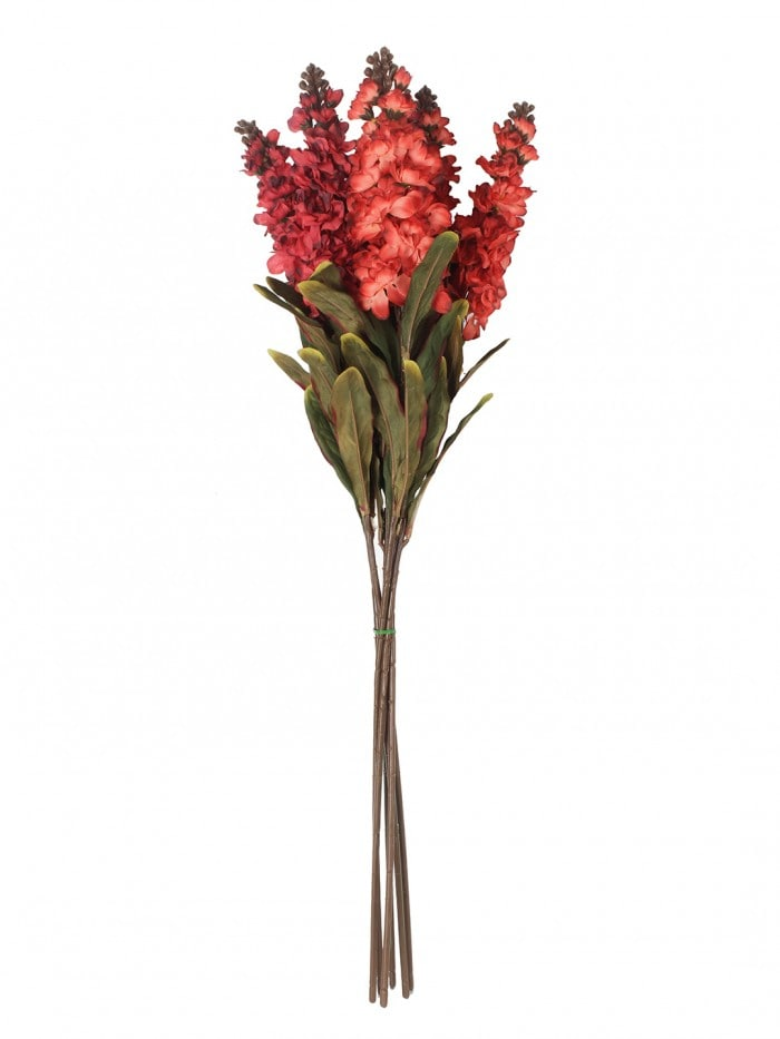ARTIFICIAL STALK FLOWER STICKS FOR HOME DECOR (75 CM TALL, RED, SET OF 3) MSF80