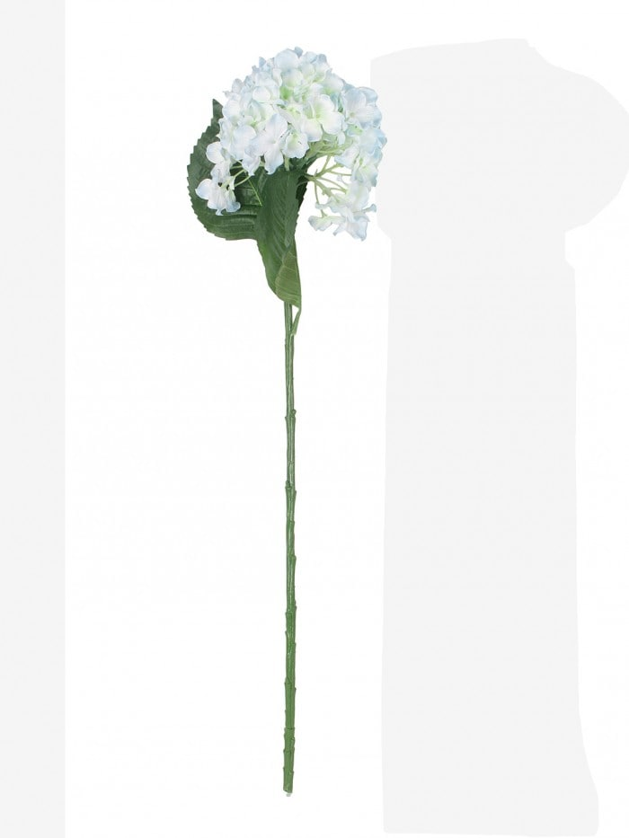 POLYESTER FABRIC AND PLASTIC ARTIFICIAL HYDRANGEA FLOWER STICKS (10 CM X 10 CM X 75 CM, BLUE, SET OF 2) MSF75