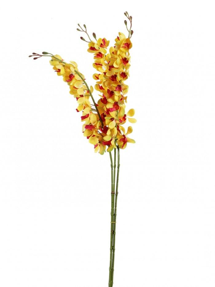 ARTIFICIAL MOKARA ORCHID FLOWER STEMS (95 CM TALL, SET OF 3, WHITE)) MSF43
