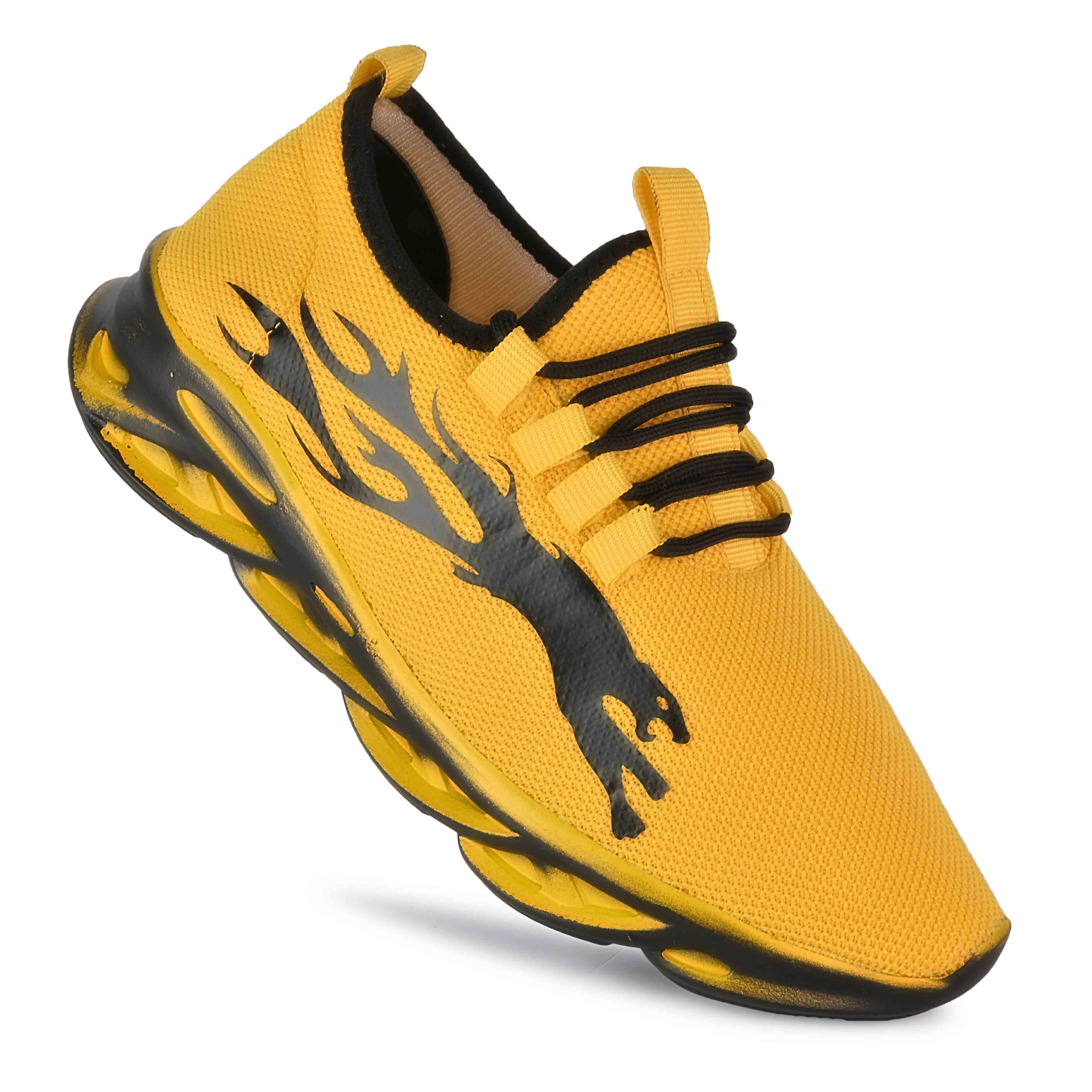 JK Port Original Presents Stylish Comfortable & Trendy Yellow Sports Shoe JKPSB79YLW (Yellow, 6-10, 8 PAIR)