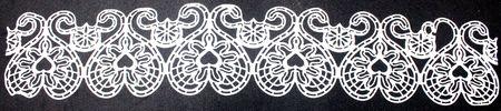 Lace Floral Heart Border Design