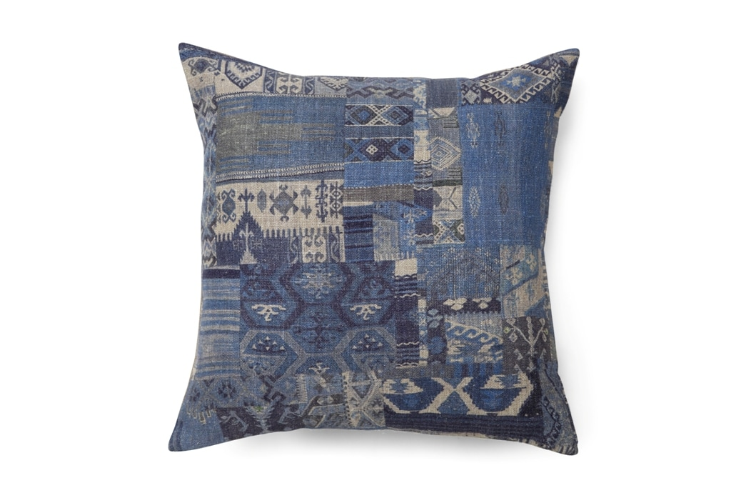 Kilim Print Cushion, Blue