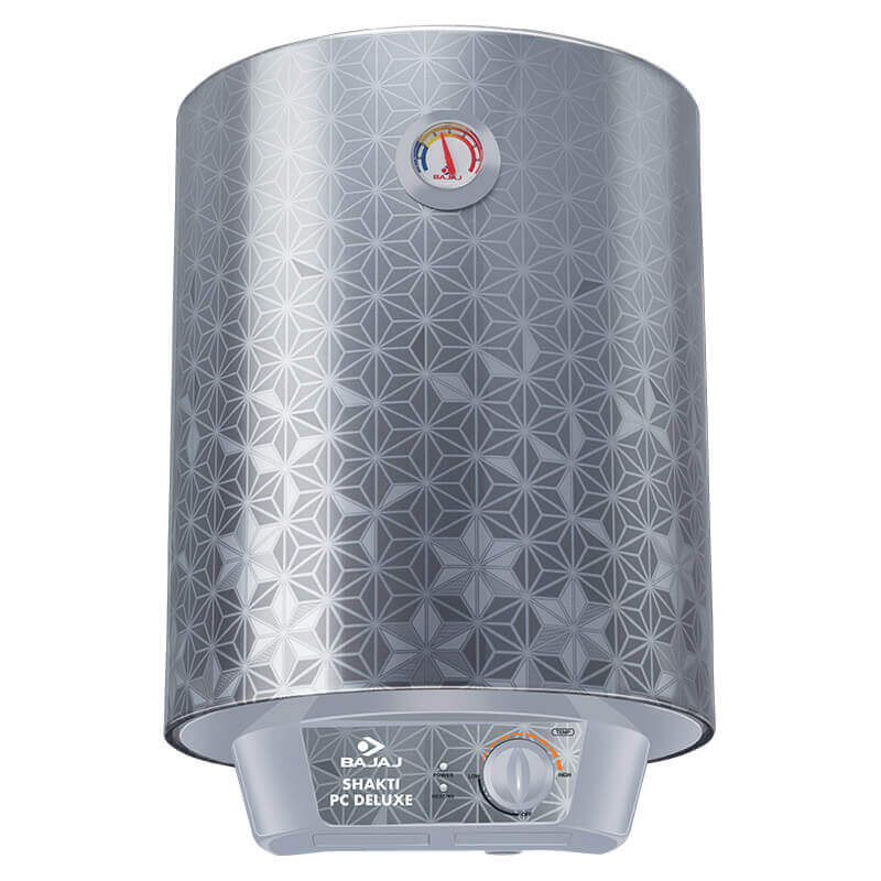 Bajaj Shakti PC Deluxe 10 L Vertical Storage Water Heater Grey