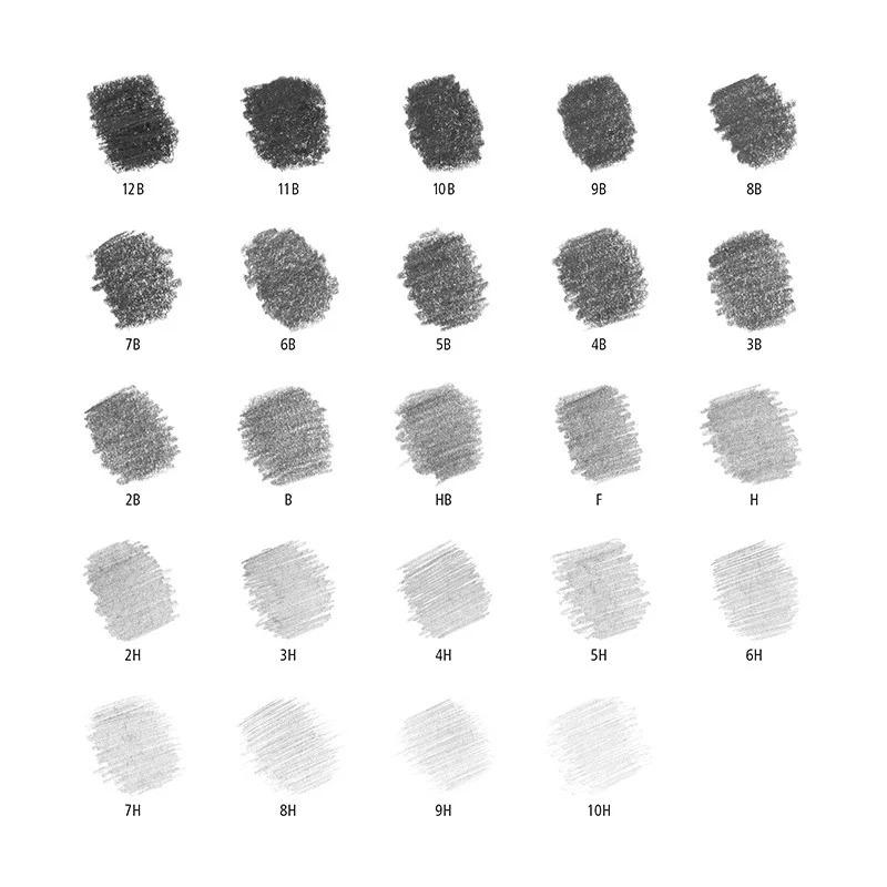 STAEDTLER LUMOGRAPH GRAPHITE PENCIL SET Of 24 (100 G24 )