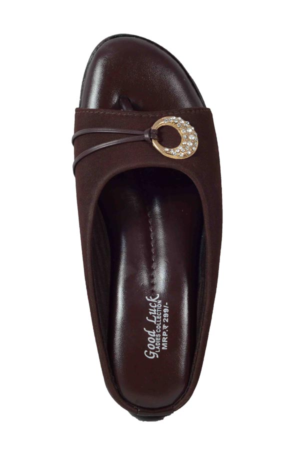 AMRIT FOOTCARE WOMENS DOCTOR SLIPPER 1181 (COFFEE, 8-11, 6 PAIR)