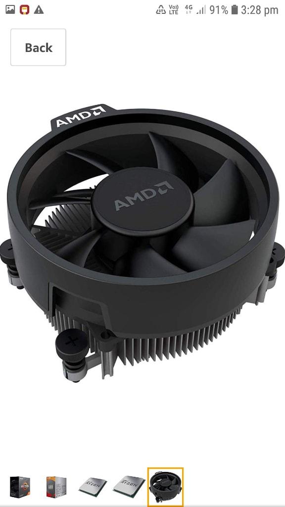 AMD Ryzen 5 3600 Desktop Processor 6 Cores Up To 4.2 GHz 35MB Cache AM4 Socket (100-000000031