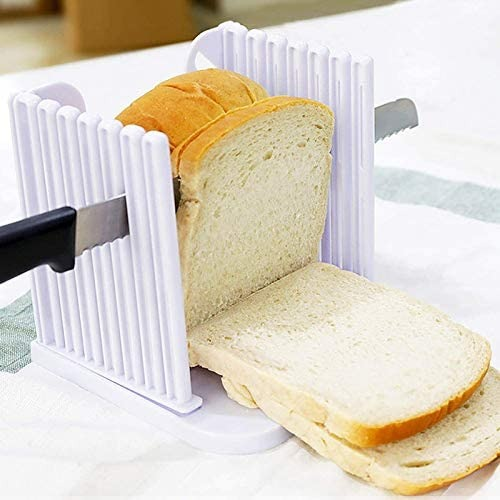 FINEDECOR ABS Material Adjustable Fold Able Bread Cutter For Cutting Bread Cake Tools - Divena In