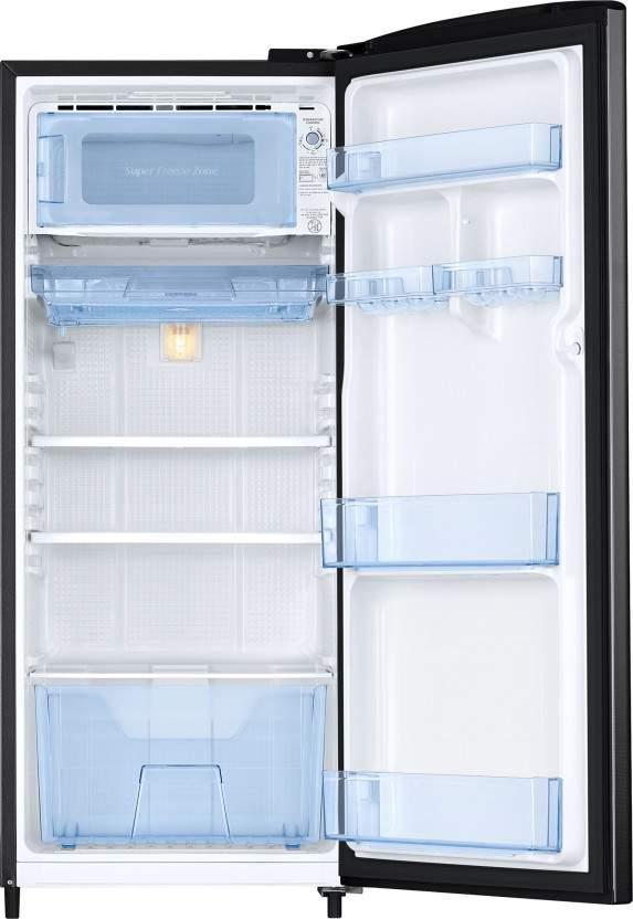 Samsung 192 L Direct Cool Single Door 3 Star Refrigerator (Camellia Black, RR20R172ZCB/HL)