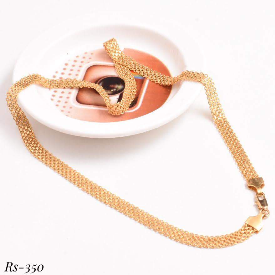 Men's Yellow Gold Chain With Strips