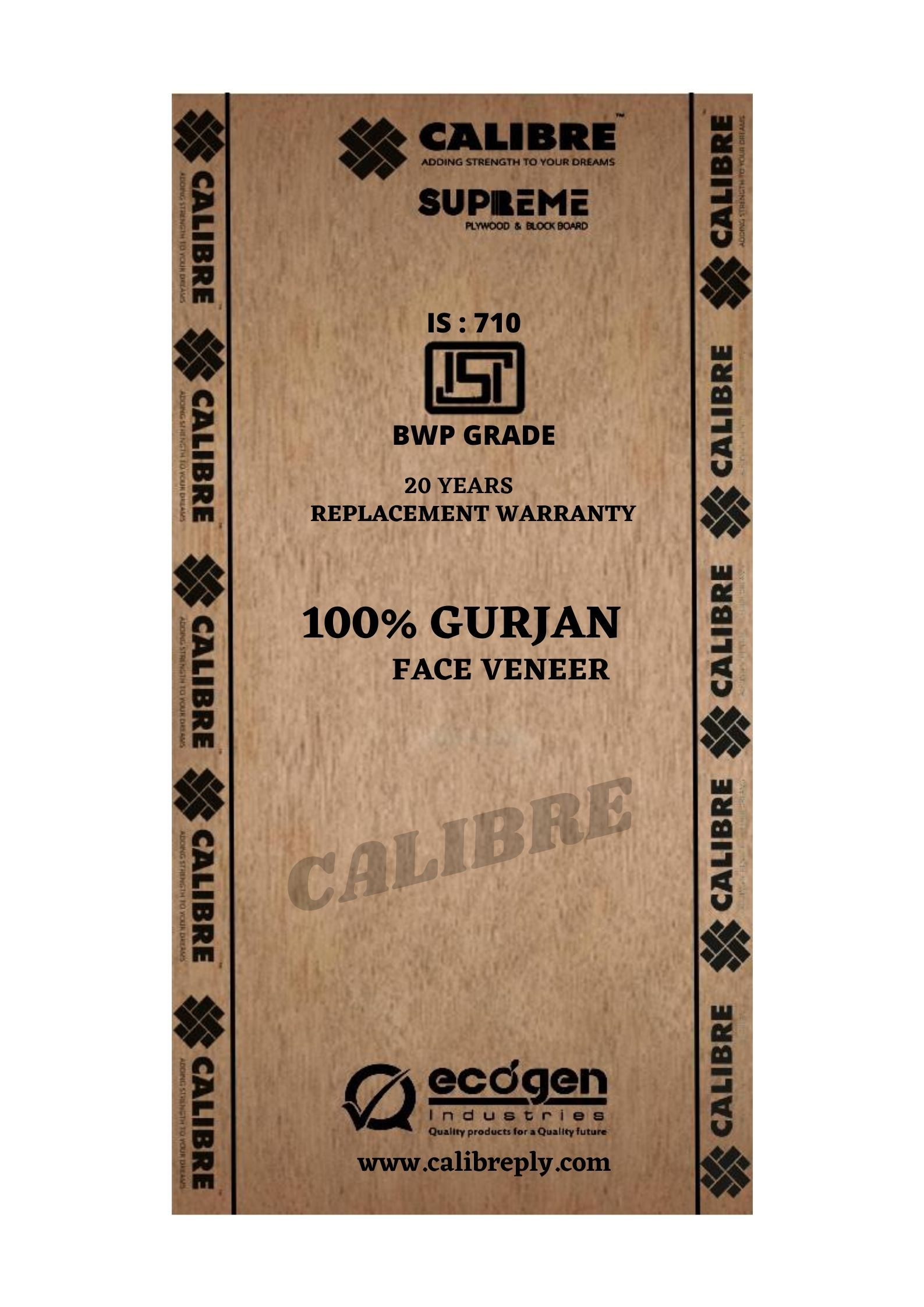 Calibre Supreme BWP IS 710 Grade Plywood (8x4, 16MM)