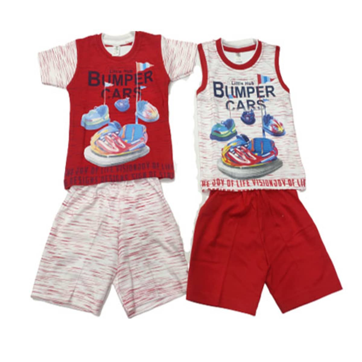 Little Hub Boys Cotton Printed Top & Bottom Set/2 In 1 Combo/For Your 3-12 Months Super Hero/Pack Of 3 Set In 3 Different Colours (M(PER SET-185))